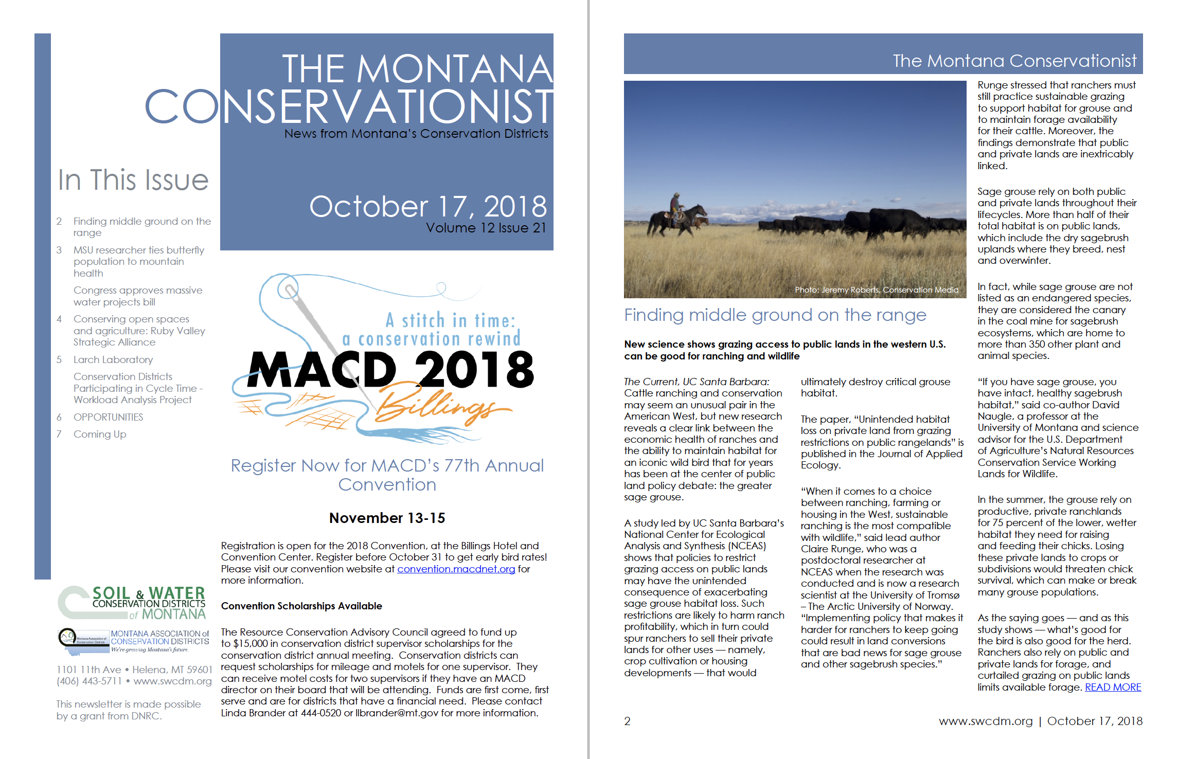 The Montana Conservationist October 17